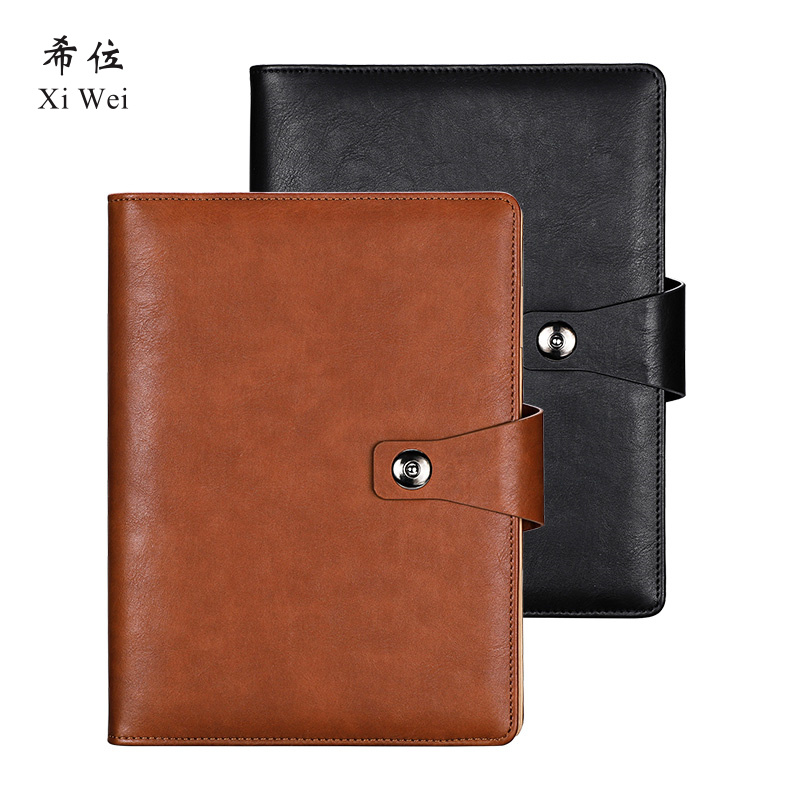 A5 Loose Leaf Notebook Notepad Business Office Stationery Record Detachable Working Diary Custom-made vintage logo custom writing pads commercial office leather notebook stationery a5 loose leaf diary spiral diary notepad