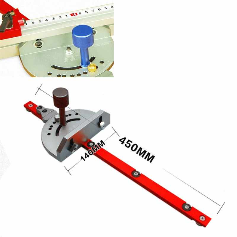 Miter Gauge Aluminium Fence For Bandsaw Table Saw Router Angle Miter Gauge Guide Engraving Machine reversal Wood Working Tool