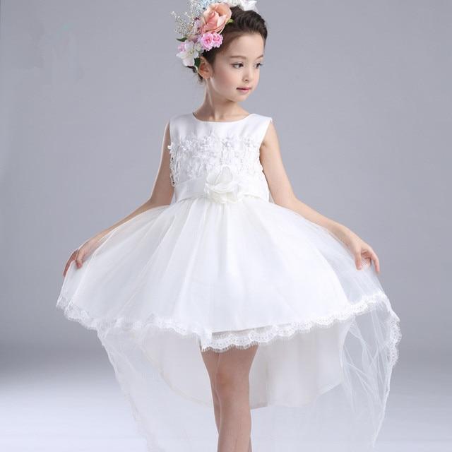 769f30d77 Fantasía blanco cola Niñas de Vestidos niños flor chica vestidos 2017 moda  ropa para 3 a