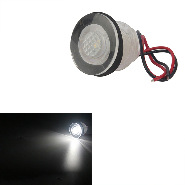 Łódź morska LED Light Blue/biały lampka grzecznościowa żywej/schodowe/światło nawigacyjne IP68