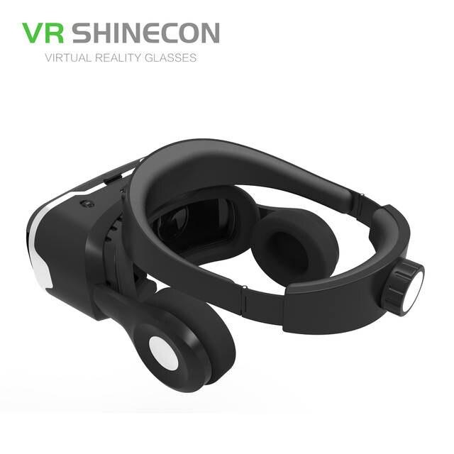 926d2c20c38 VR Shinecon 4.0 Stereo Virtual Reality Smartphone 3D Glasses Headset Google  BOX + Headphone   Control