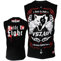 VSZAP CONSTRUIDO MMA Camiseta Muay Thai mma Lucha Lucha LUCHA chaleco Sin Mangas masculino de La Aptitud boxeador Tailandés ropa impresión Offset S-4XL