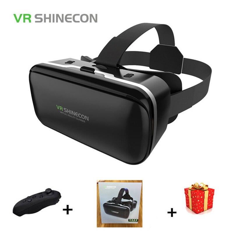 Shinecon 6.0 Casque VR Box Bicchieri di Realtà Virtuale 3 D 3d Occhiali Casco Auricolare Per Smartphone Smart Phone Google Cartone len