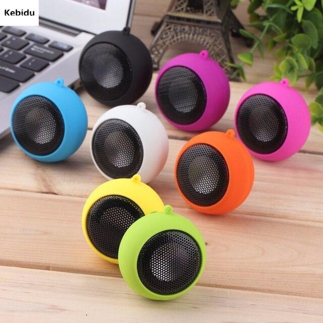 Kebidu Mini Hamburger Type Portable Speaker Music player Stereo Plug in Audio Colourful Cute Design for Girl Child