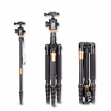 QZSD Q666 Professional Tripod With Q-02 360 Degree Swivel Fluid Head For Canon For Pentax For Sony For Olympus DSLR Camera