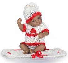 250cf282660e NPK COLLECTION nouvelle arrivée 26 cm plein silicone simulation mini bébé  garçon avec des vêtements en tricot et chapeau silicon.