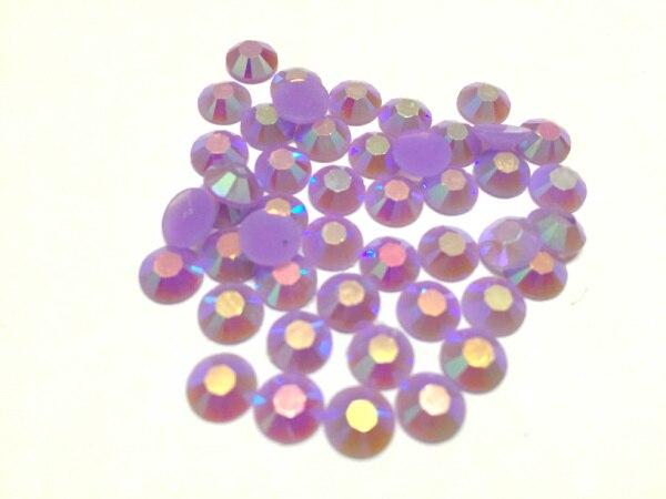 3 mm jalea lt. Amethyst AB del Color SS10 Rhinestones de la resina cristalina flatback, del arte del clavo, 100,000 unids/bolsa