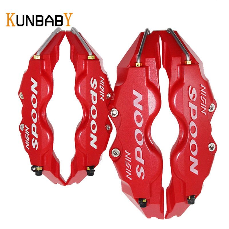 KUNBABY 4PCS Disc Brake Caliper Cover Car Styling Front Rear For Spoon Auto Accessories Fit For