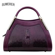 все цены на 2018 new fashion crocodile pattern handbag Women's handbags Personalized fashion shoulder Messenger bag онлайн
