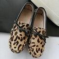2017 Novas Mulheres Da Moda Sapatos Baixos Crina Genuína sapatos de Mulher Sapatos Feitos À Mão Sapatos Flats Mocassins Mulheres Sapatos Casuais Loafers Senhora