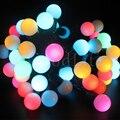 AC220V 10 m 100 leds LED Colorido Luz Da Corda bola Multi cor para a Festa de Casamento Do Feriado Do Natal decoração de Natal Luz