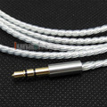 1.5m Silver Plated 3.5mm To 3.5mm Earphone Cable For Monster Solo Studio Beats Headphone LN004426