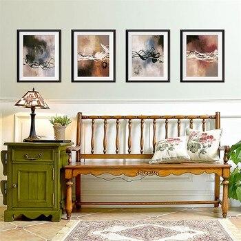 25x30cm x 4 Uds. Marco de foto falso 3D pintura en 4 líneas pegatinas de pared creativas abstractas fáciles de aplicar, quitar reuso #0206y10