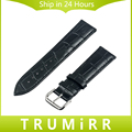 Genuine Leather Watch Band 16mm 18mm 20mm 22mm for Timex Weekender Expedition Classic Men Women Alligator Grain Strap Bracelet