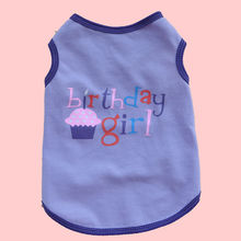 Happy Birthday Dog Shirt Small Cat Summer Clothes Yorkshire Terrier Pet Cotton T