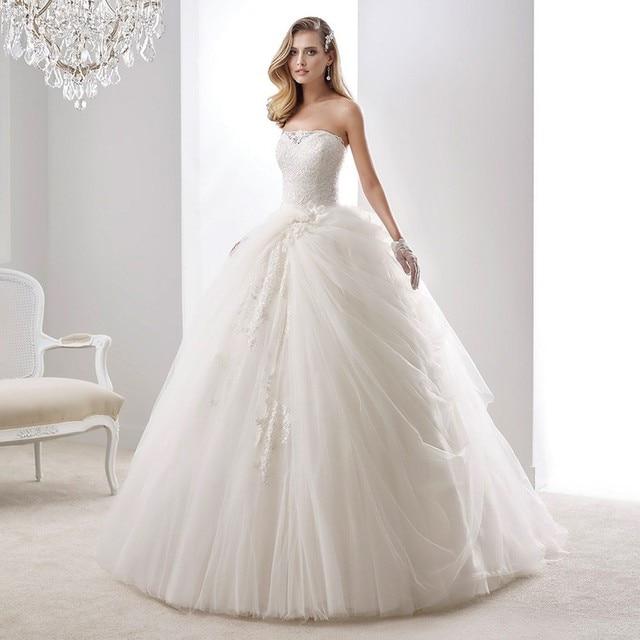 Strapless Vestido De Noiva Princess Ball Gown Sparkly Wedding ...