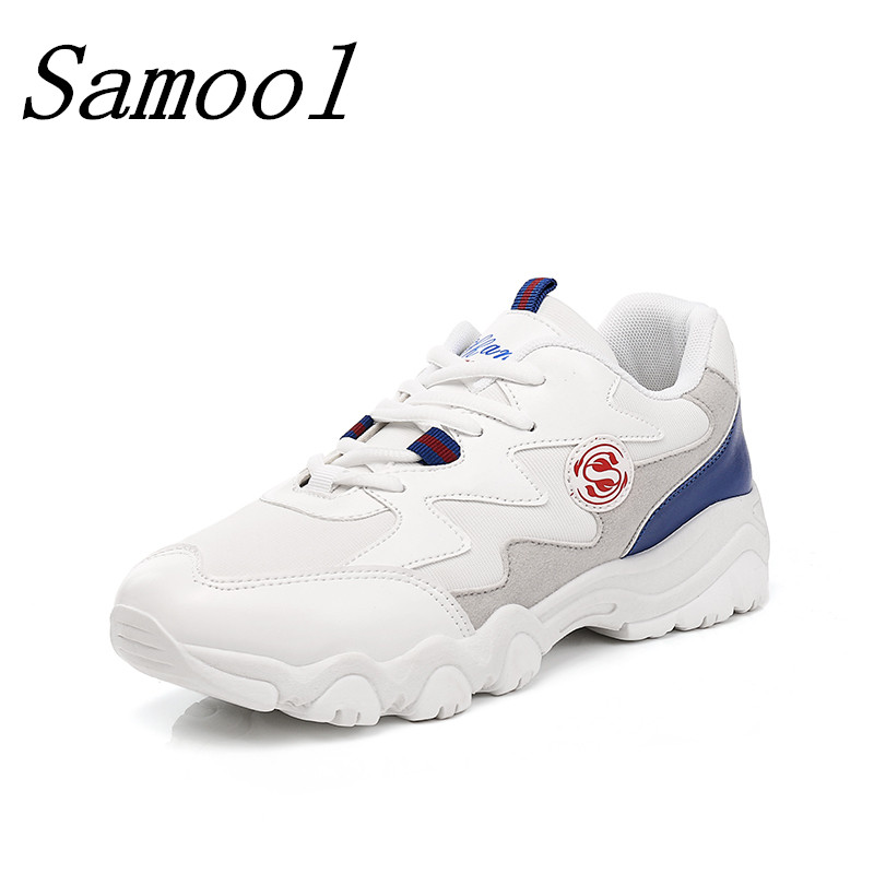 Brand Board Shoes Surface Breathable Outdoor Walking Shoes Comfortable Mixed Color Causal Women Thick Bottom White Shoes jx5