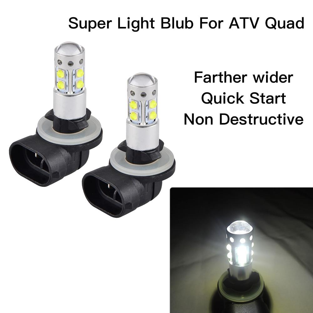 US $9 5  NICECNC 100W LED Headlight Bulbs Lamps For Polaris  Sportsman/Ranger 300 400 450 500 550 800 570 RZR ACE Magnum 425 Hawkeye  300-in ATV Parts &