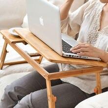 Icozzier портативный складной Бамбуковый стол для ноутбука диван