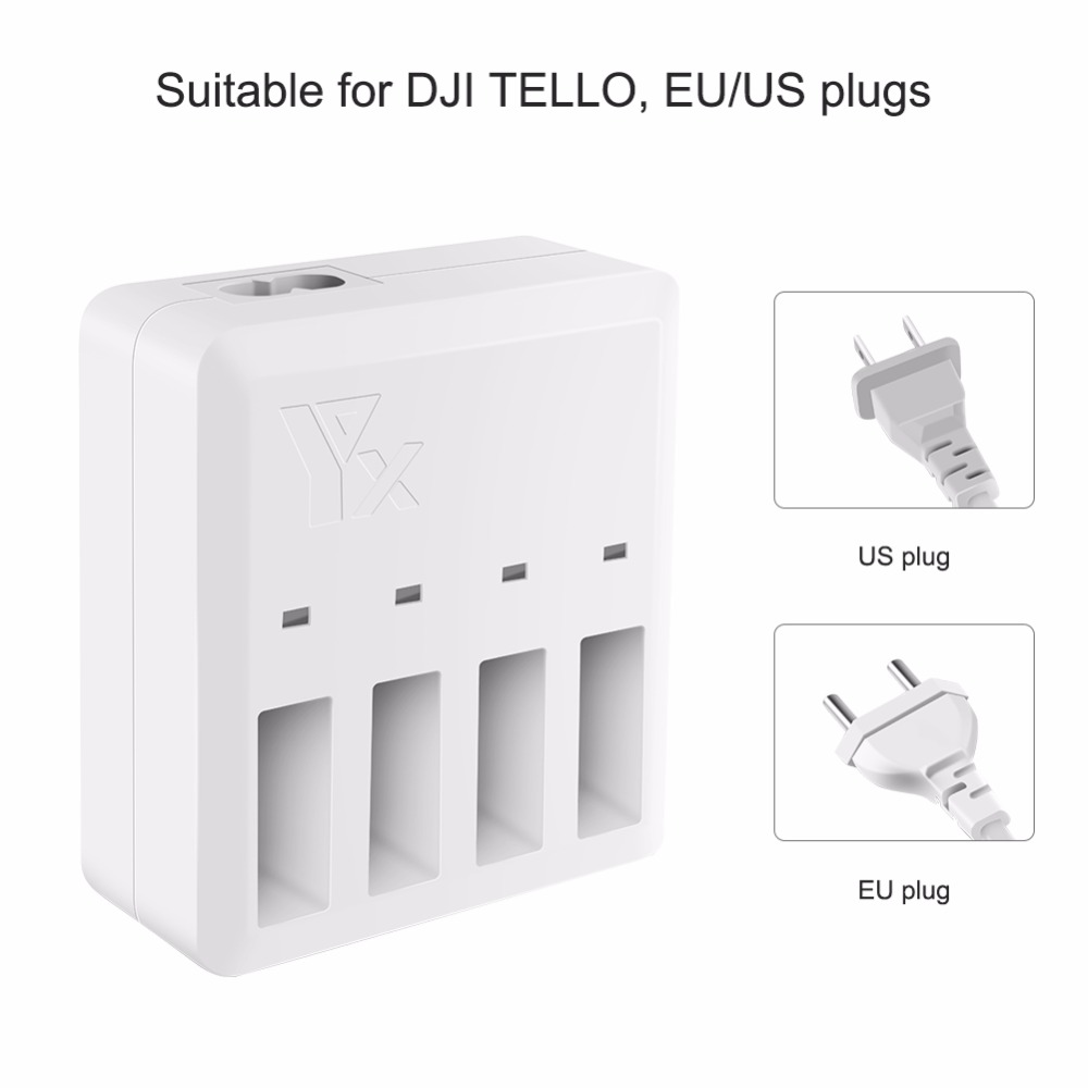 4in1 DJI Tello Battery Charger Intelligent Multi Charging Hub Quick Charging Lipo Battery Charger for DJI Tello Drone Accessor