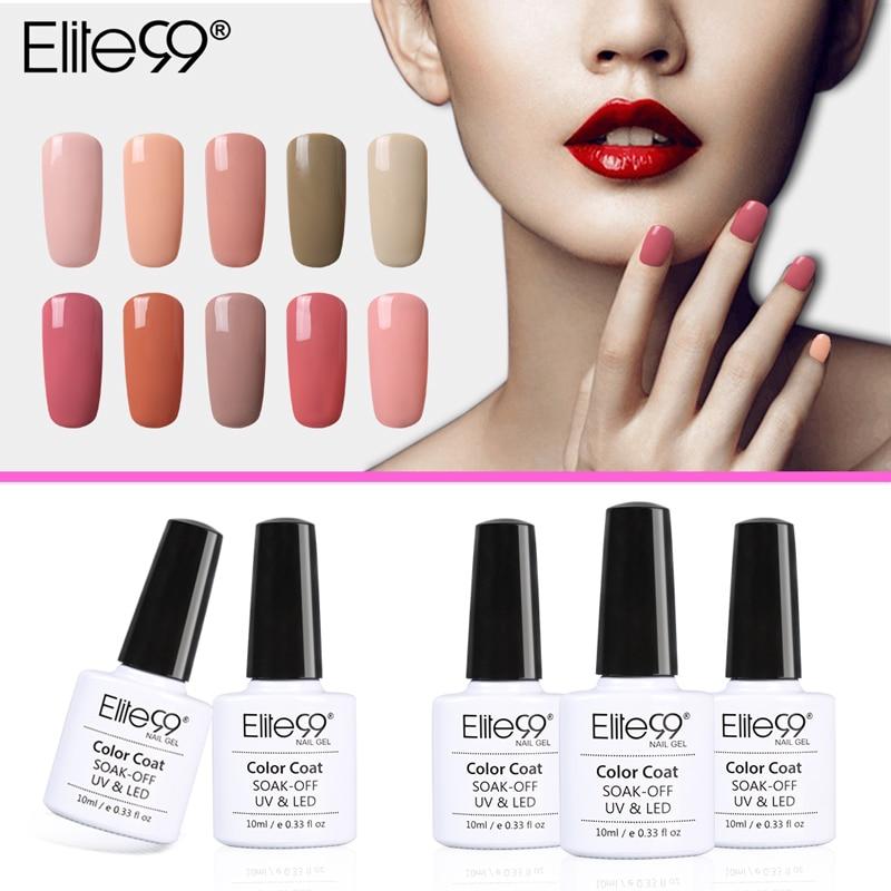Elite99 Gel Polish Varnish UV LED Nude Color Series UV Gel