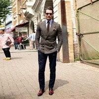 960af68e47d04 ... Suit For Business Formal Tweed Custom Blazer Double Breasted. US $69.68  US $51.56. 2019 son pantolon ceket tasarımları kahverengi erkek takım  elbise iş ...