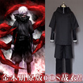 FREE SHIPPING Anime Tokyo Ghouls Ken Kaneki Cosplay Costume Leather Suit/Hooded Coat/Pants Carnaval Halloween Costumes for Men