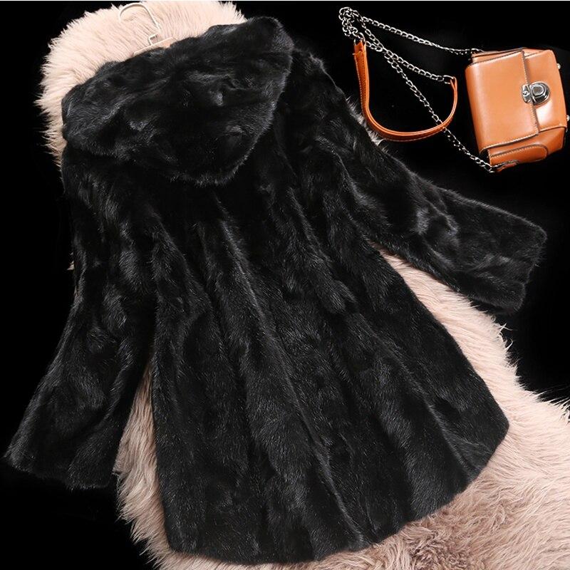 Véritable Vison Automne Survêtement Taille Pièce Veste De La Hiver 3xl Vêtement Plus Manteaux black Femmes Gray Fourrure Luxe Réel Manteau FBIfqYw