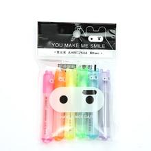 6PCS/Set Rabbit Ninja Mini Highlighter Pen Marker Pens Kawaii Stationery Cartoon Escolar Papelaria Writing School Supplies