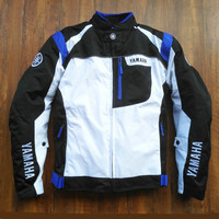 Free shipping 2019 Motorcycle Blue Riding Jacket for YAMAHA M1 R1 R6 Sportswear Motocross Racing Clothing