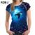 Forudesigns mujeres camiseta linda animal delfín camiseta impresa mujeres ropa azul tops moda de verano de manga corta camiseta de las muchachas