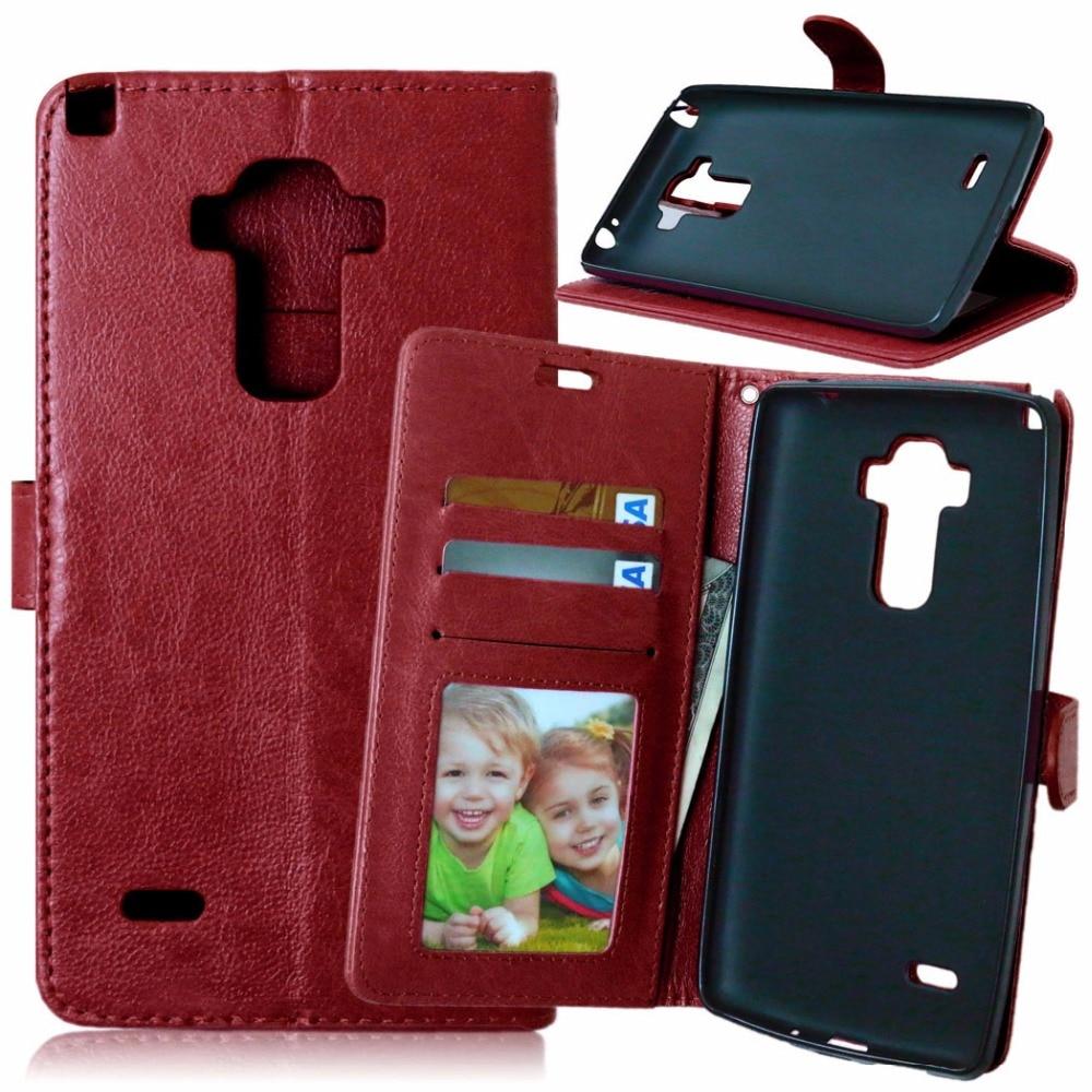 Leather Case For LG G4S G4 S Retro Phone case Bag fundas capa Flip Case Cover