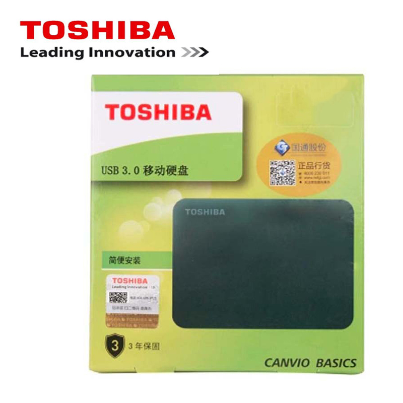 "New Toshiba 1TB External Mobile HDD 2.5"" USB 3.0 5400RPM External Hard Drive 1TB Portable Hard Disk Drive for Laptop(China)"