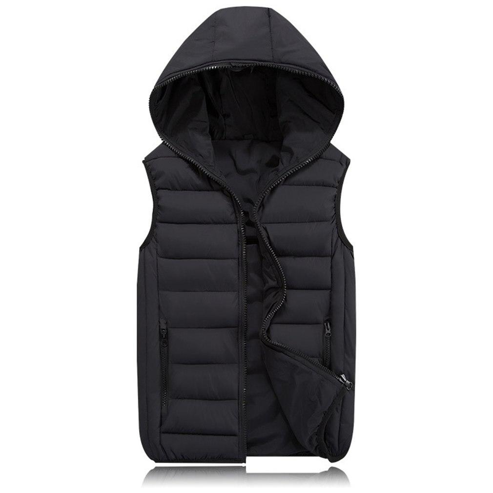2018 Winter Men Parkas Slim   Coat   Vest Plus Size XS-4XL Velvet Mens Bomber Jacket Warm   Down   Cotton Thick Hooded Waistcoat Vests