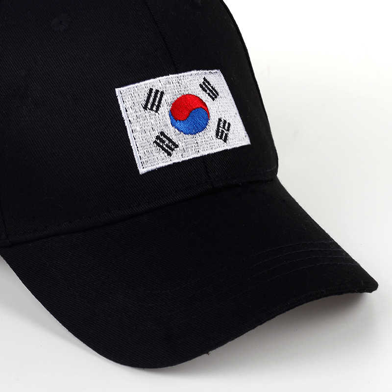 851c224e842 ... TUNICA 2017 New Korean Version of GD Baseball Cap Flag Of Korean Hat  Cotton Snapback Hip