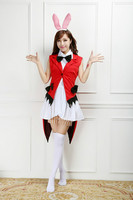 Love Live Anime Sonoda Umi Sonoda Sea Hare Rabbit Hit Song Red Jackets Tail White T shirt Cosplay Costumes Dresses Outlet PS013