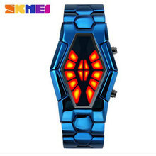 New snake table Wholesale Fashion Jewelry For men and women present Binary Watch For waterproof LED