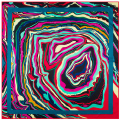 High Quality Abstract Art Painting Pattern Brand Silk Scarf Twill Square Scarf Women Shawl Satin Ribbon Handkerchief SH15102221