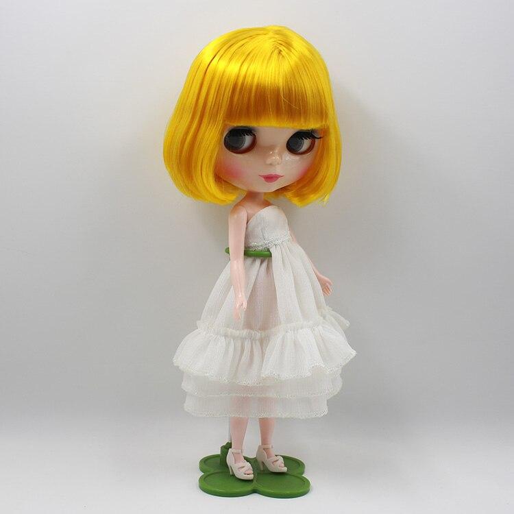 Neo boneca Nude blyth doll Blonde bangs short hair dolls for girls gifts bjd blyth dolls for sale 25cm 100cm doll wigs hair refires bjd hair black gold brown green straight wig thick hair for 1 3 1 4 bjd diy