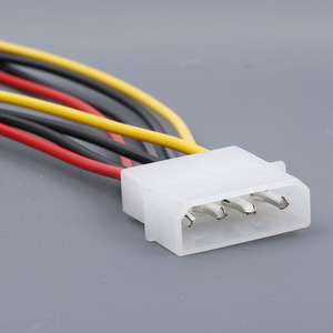 Image 2 - Computer Cable 4/15 Pin IDE Power Splitter 1 Male To 2 Female IDE/SATA  Power Cable Y Splitter Hard Drive Power Supply Cable