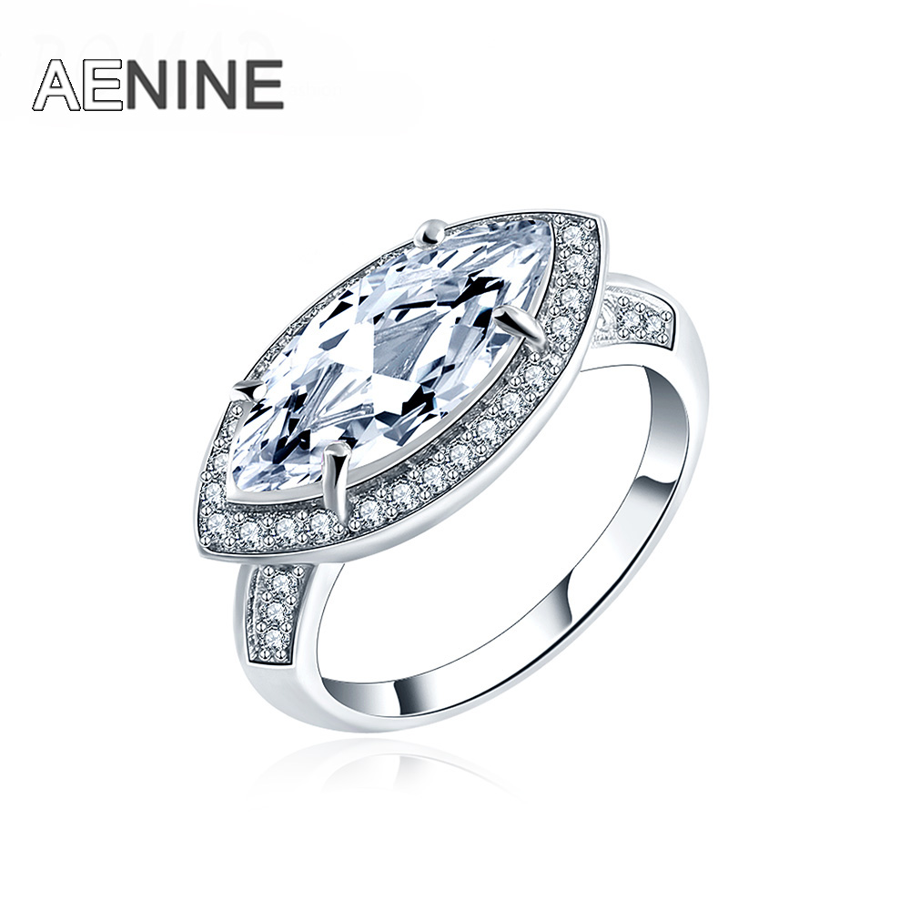 aenine fashion jewelry ring single clear cubic zirconia round pave small crystal delicate wedding rings for women anillos mujer - Small Wedding Rings