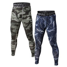 Camouflage leggings Male high elastic lycra quick-drying base training basketball sports pants cycling running fitness pants
