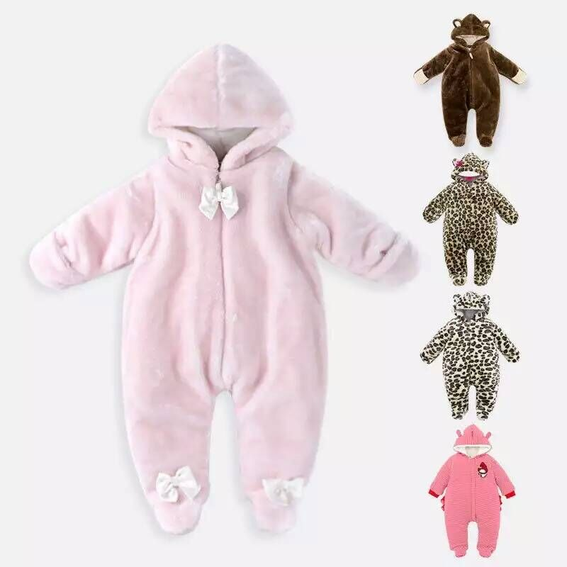 Baby Rompers Winter Thick Climbing Clothes Newborn Boys Girls Warm Romper Knitted Sweater Christmas Hooded Outwear Clothing cotton baby rompers set newborn clothes baby clothing boys girls cartoon jumpsuits long sleeve overalls coveralls autumn winter