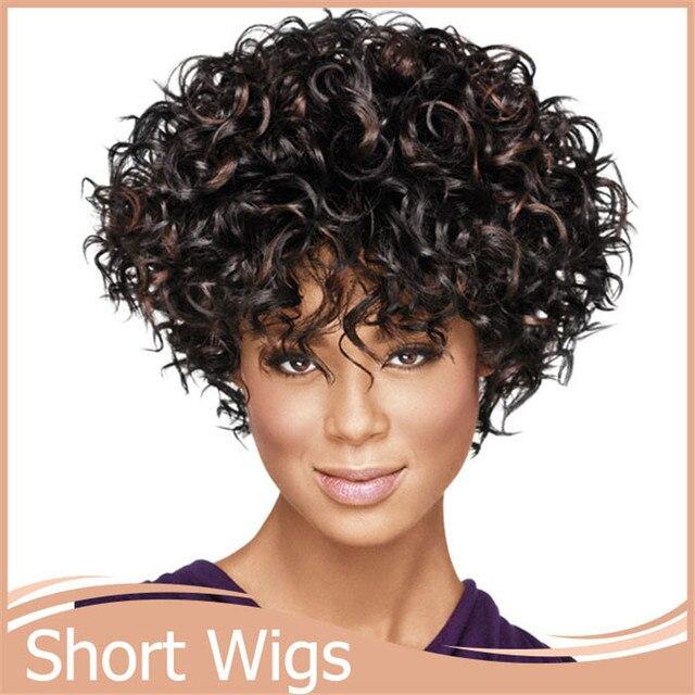 1pc Kinky Afro Wig Curl Japanese Kanekalon Fiber Fiber U