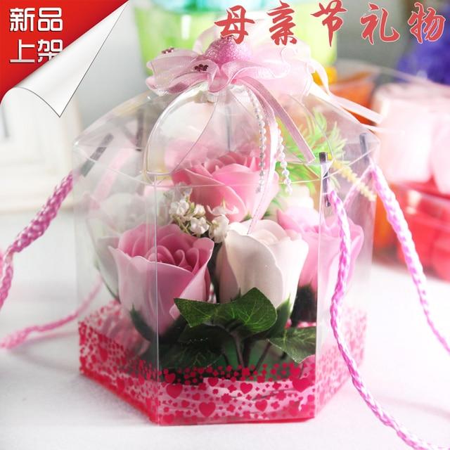 Girlfriend Gifts Honey Birthday Gift Home Decoration Flower Basket Romantic Soap Rose