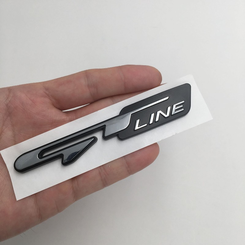 Kia sportage picanto gtline boot tailgate badge emblem sticker new self adhesive