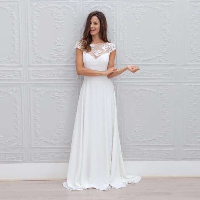 Vestido De Noiva Fashionable Beach Wedding Dress Sexy Open Back Romantic Lace Wedding Gown Special Detachable Sashes Bride Dress