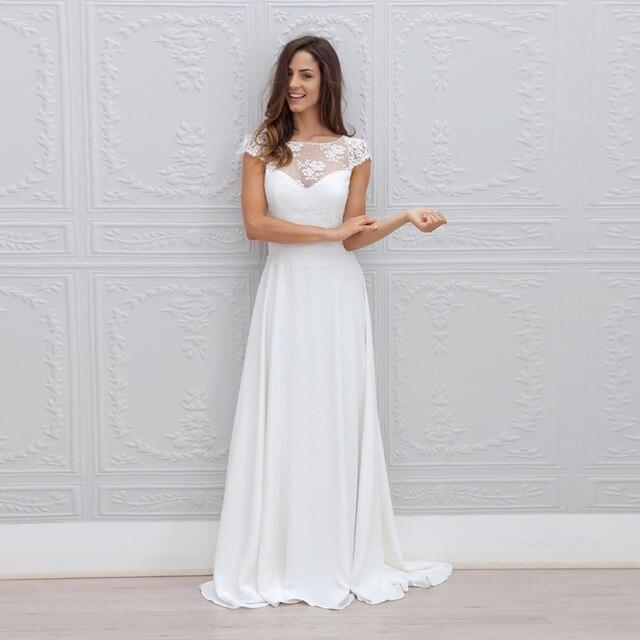 0bdf482587 Vestido De Noiva Vestido de Boda de Playa De Moda Sexy Vestido de Espalda  Abierta de
