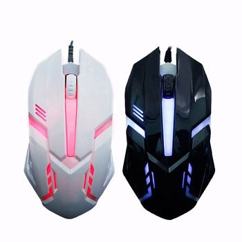 Fashion LED Light 4 Button Wired Gaming Mouse 1600DPI Optical USB Ergonomic Colorful Light Mice Mouse for PC Computer Notebook chyi wired left hand vertical mouse ergonomic led backlit 1600dpi adjustable usb power wrist protect mice with mousepad kit pc