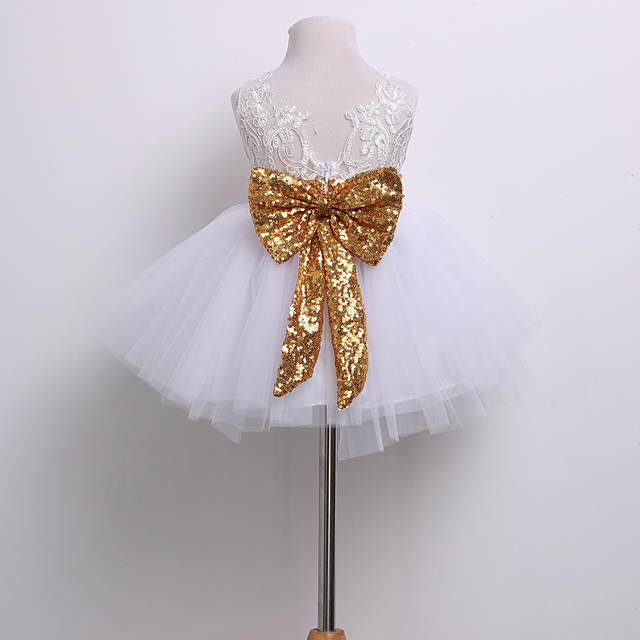 b4abcf02ba83e 0-10T New Fashion Sequin Flower Girl Dress Party Birthday wedding princess  Toddler baby Girls Clothes Children Kids Girl Dresses